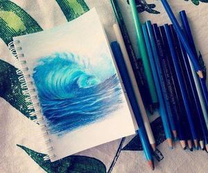 blue, drawing, and art image