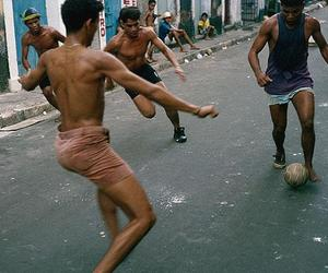 boys, soccer, and street image