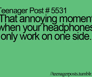 headphones, teenager post, and funny image