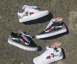 vans, fashion, and roses image