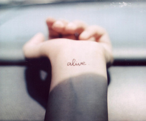 alive, tattoo, and hand image