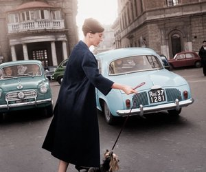 audrey hepburn, dog, and vintage image