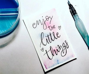 acuarela, lettering, and little things image