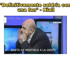 memes, 1d, and niall image