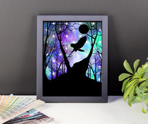 etsy, owl wall art, and owl baby room decor image