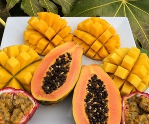 fruit, mango, and tropical image