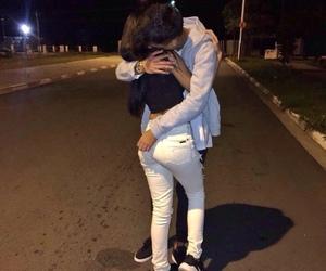 kiss, couple, and hug image
