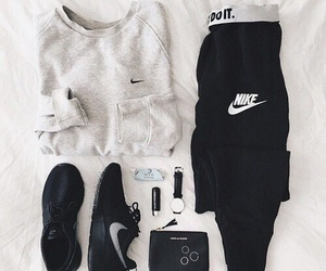black, outfit, and clothes image
