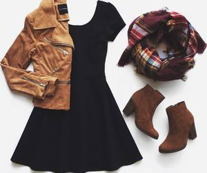 black, clothing, and outfit image