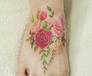 floral and tatto image