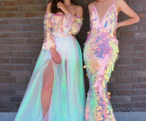 dress, mermaid, and friends image