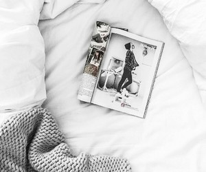 magazine, bed, and white image