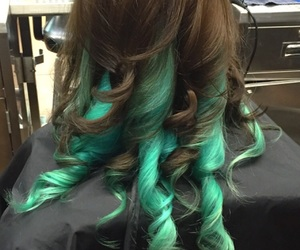 blue, brunette, and colors image