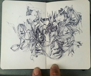 art, drawing, and notebooks image