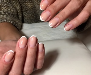 nails, french manicure, and perfect nails image