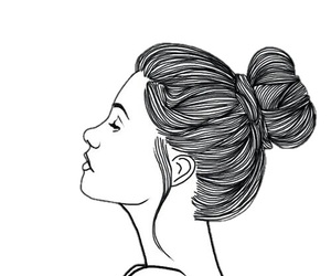 girl, outline, and background image
