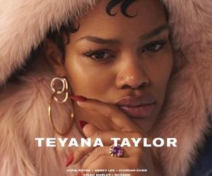 teyana taylor, fur, and makeup image