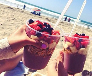 summer, beach, and fruit image