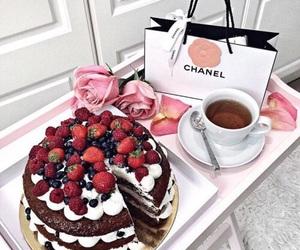 cake, chanel, and food image