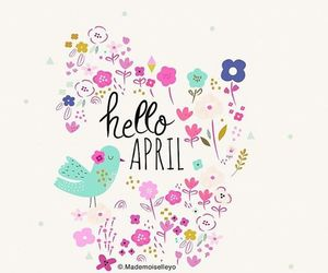 april, birds, and flowers image