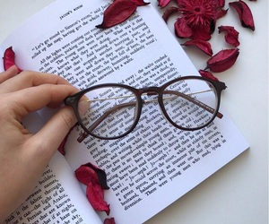 book, flowers, and nice image