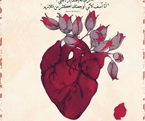heart, flowers, and red image