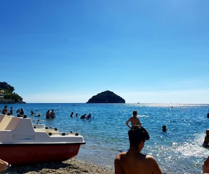 beach, italy, and love image