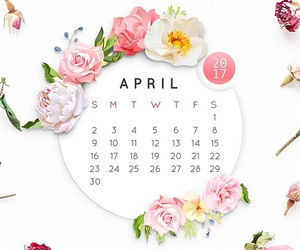 april, calendar, and wallpaper image