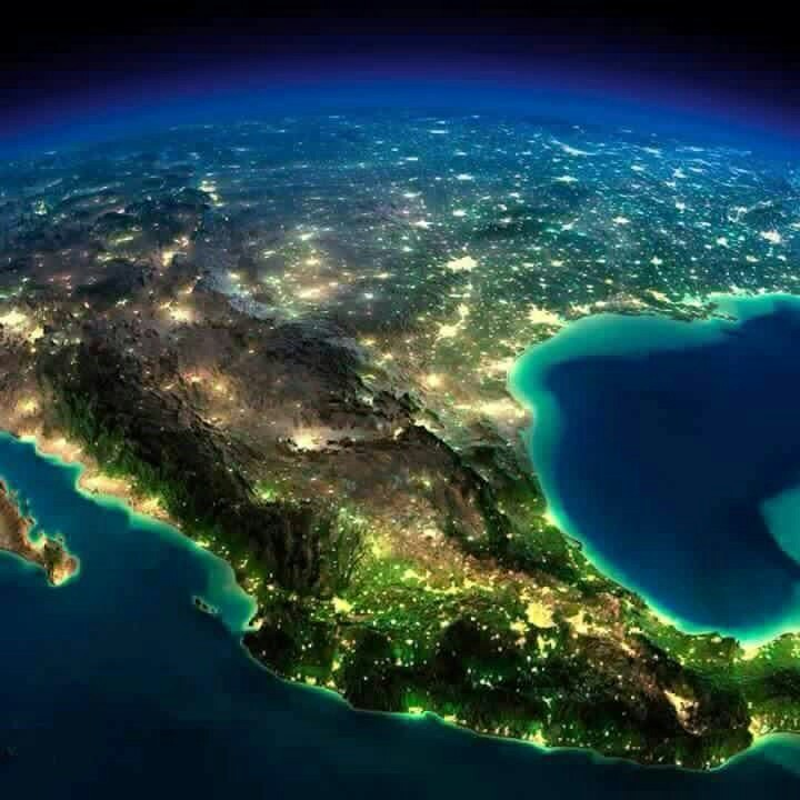 mexico and lights image