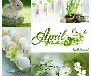 april, easter, and months image