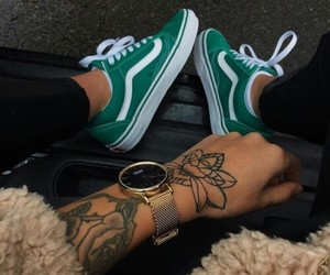 tattoo, vans, and green image