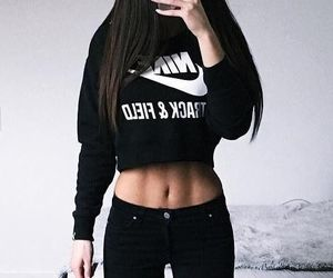 fashion, nike, and black image