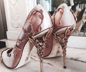floral, shoes, and rose gold image