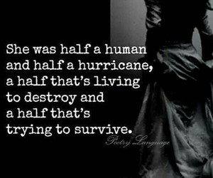 chaos, hurricane, and quote image