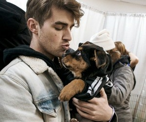 the chainsmokers, andrew taggart, and dog image