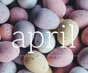 april, spring, and easter image
