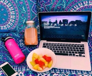 summer, friends, and fruit image
