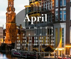 april, monthly calendar, and april 2017 image