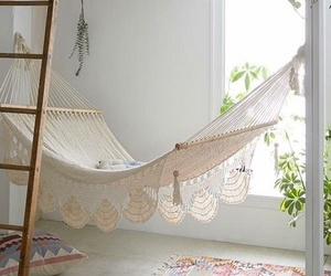 hammock, home, and room image