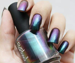 nails, nail polish, and purple image