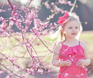 blossom, child, and flowers image