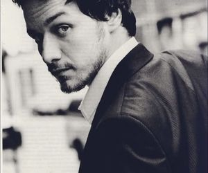 james mcavoy, black and white, and Hot image