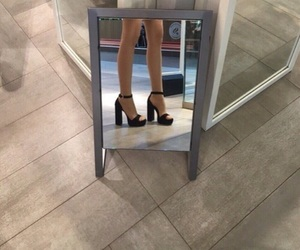fashion, shoes, and mirror image
