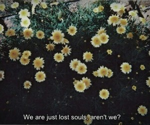 flowers, quotes, and soul image