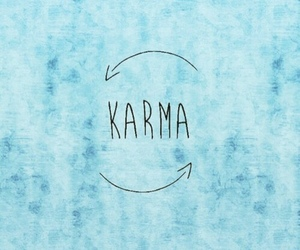 karma, blue, and wallpaper image
