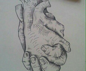 art, hands, and heart image