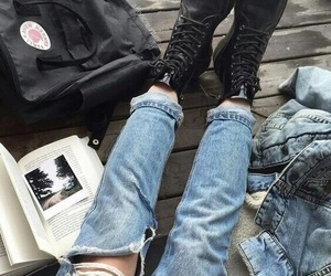 black, book, and jeans image