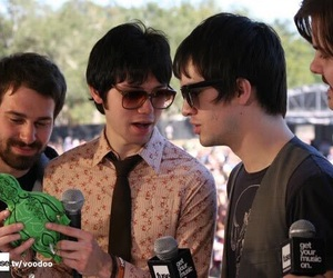 brendon urie, jon walker, and panic! at the disco image