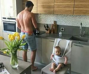 boy, kid, and kitchen image