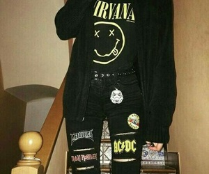 nirvana, rock, and metal image